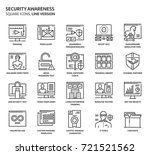 security awareness square icon... | Shutterstock .eps vector #721521562