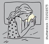 vector illustration of bored... | Shutterstock .eps vector #721523575