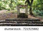 old park fountain | Shutterstock . vector #721525882