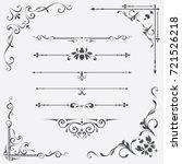 calligraphic design elements | Shutterstock .eps vector #721526218