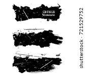 vector black white paint  ink... | Shutterstock .eps vector #721529752