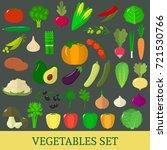 a set of fresh vegetable... | Shutterstock .eps vector #721530766