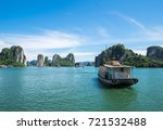 tourist ferry boat in halong... | Shutterstock . vector #721532488