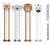 children meter wall animals | Shutterstock .eps vector #721536232