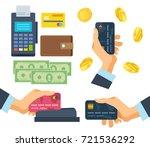 pos terminal. financial... | Shutterstock .eps vector #721536292