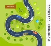 road with cars. moving cars on... | Shutterstock .eps vector #721536322