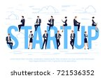 startup. business concept in a... | Shutterstock .eps vector #721536352