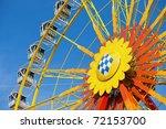 traditional bavarian big wheel...   Shutterstock . vector #72153700