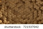 Gold Abstract Hexagonal...