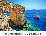 paxos island  greece   june 7 ... | Shutterstock . vector #721538185
