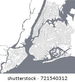 vector map of the new york city ... | Shutterstock .eps vector #721540312