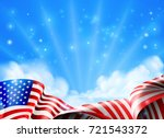 an american flag political or... | Shutterstock .eps vector #721543372