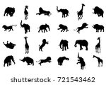 an african animal safari... | Shutterstock .eps vector #721543462