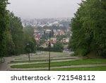 rainy day in the park. slovakia | Shutterstock . vector #721548112