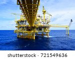 offshore construction platform... | Shutterstock . vector #721549636