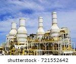 exhaust of gas turbine engine... | Shutterstock . vector #721552642