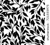 black and white leaves and... | Shutterstock .eps vector #721555975