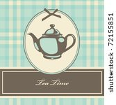 Vintage Card With Teapot....