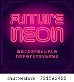 bright neon alphabet letters... | Shutterstock .eps vector #721562422