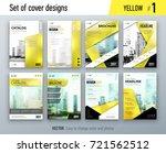 set of business cover design...   Shutterstock .eps vector #721562512