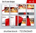 set of business cover design... | Shutterstock .eps vector #721562665