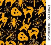 set of halloween vector... | Shutterstock .eps vector #721568635