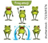 vector set of cute ffrog... | Shutterstock .eps vector #721569376