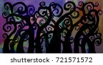 abstract painting color water... | Shutterstock . vector #721571572