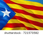 catalonia flag waving in the... | Shutterstock . vector #721573582