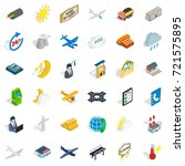 aeroplane icons set. isometric... | Shutterstock .eps vector #721575895