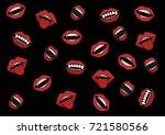 smile of a vampire's fangs... | Shutterstock .eps vector #721580566
