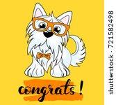 vector illustration of a dog... | Shutterstock .eps vector #721582498