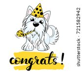 vector illustration of a dog... | Shutterstock .eps vector #721582942