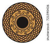 round ornament made of floral...   Shutterstock .eps vector #721590436