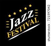 jazz musical art poster ... | Shutterstock . vector #721597042