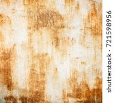 texture of old rusty metal.... | Shutterstock . vector #721598956