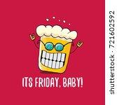 its friday baby vector concept... | Shutterstock .eps vector #721602592