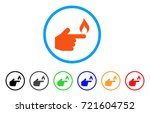 index finger fire rounded icon. ... | Shutterstock .eps vector #721604752