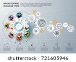 concept for business teamwork.... | Shutterstock .eps vector #721605946