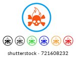 death fire rounded icon. style... | Shutterstock .eps vector #721608232