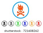 death fire rounded icon. style... | Shutterstock .eps vector #721608262