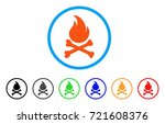 death bones flame rounded icon. ... | Shutterstock .eps vector #721608376