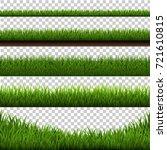 grass border big set | Shutterstock . vector #721610815