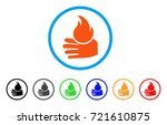 burn hand rounded icon. style... | Shutterstock .eps vector #721610875