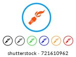 burner nozzle fire rounded icon.... | Shutterstock .eps vector #721610962