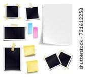 set of blank paper objects.... | Shutterstock . vector #721612258