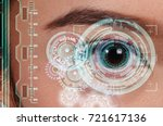 close up of woman eye in... | Shutterstock . vector #721617136