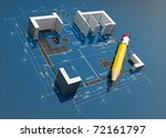 project of construction. on... | Shutterstock . vector #72161797