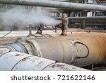 corrosion rusty valve gas leak... | Shutterstock . vector #721622146