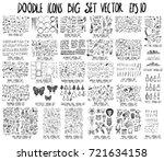mega doodles data circle arrow... | Shutterstock .eps vector #721634158